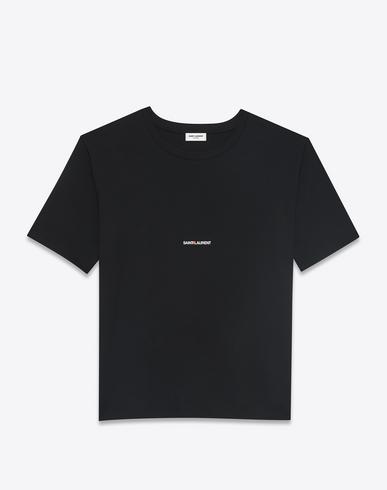 Logo Print Cotton Jersey T-Shirt, Black, Heather Grey