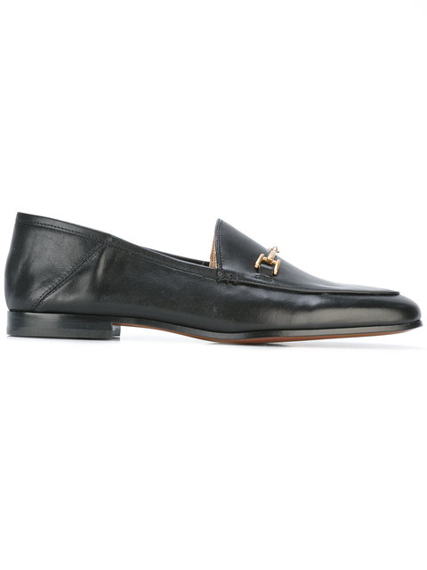 Women'S Loraine Round Toe Leather Loafers, Black