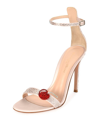 Womens Crystal-Embellished Satin Ankle-Strap Sandals Gianvito Rossi jez6Y