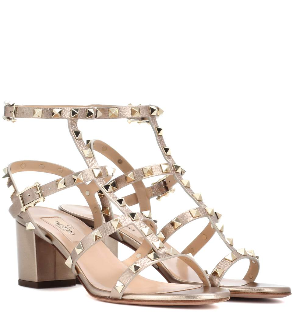 Rockstud sandals - Metallic Valentino Looking For Cheap Price Sale Low Shipping Fee Outlet Factory Outlet Discount In China Genuine Online Dp54tZ