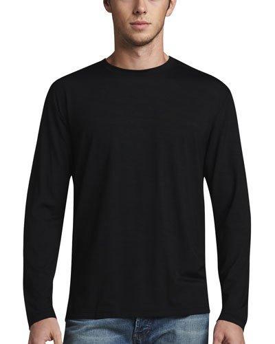 DEREK ROSE Basel 1 Long-Sleeve Jersey T-Shirt, Black