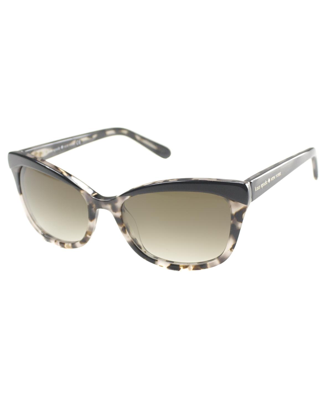 Kate Spade Cat-Eye Plastic Sunglasses, Black Blush Tortoise