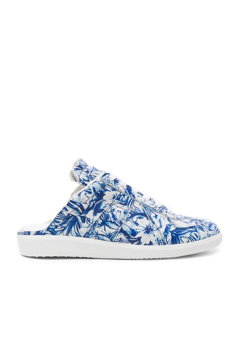 Maison Margiela Floral Leather Sneaker Slides
