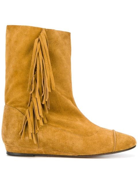 Jérôme Dreyfuss Paz Boots - Orange, Yellow & Orange