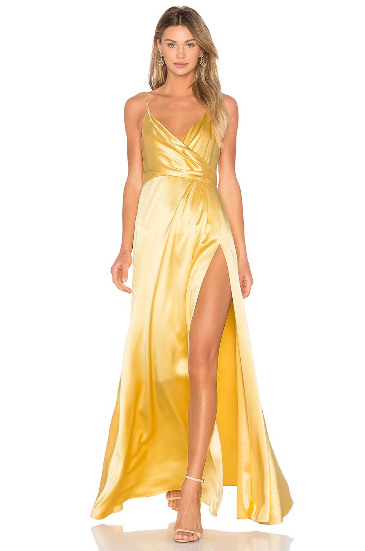 Faux Satin Dress
