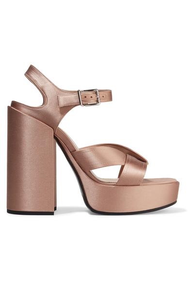 Jil Sander Woman Satin Platform Sandals Copper Size 41 Jil Sander QfKj7z1ORq