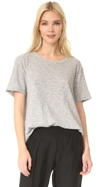 Slub Jersey Boyfriend Tee, Heather Grey