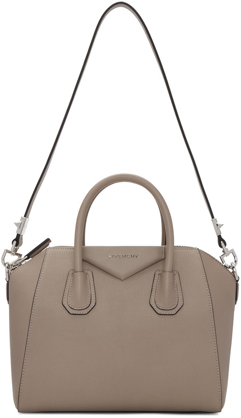 2f1ce19dd497 Givenchy Taupe Medium Antigona Bag
