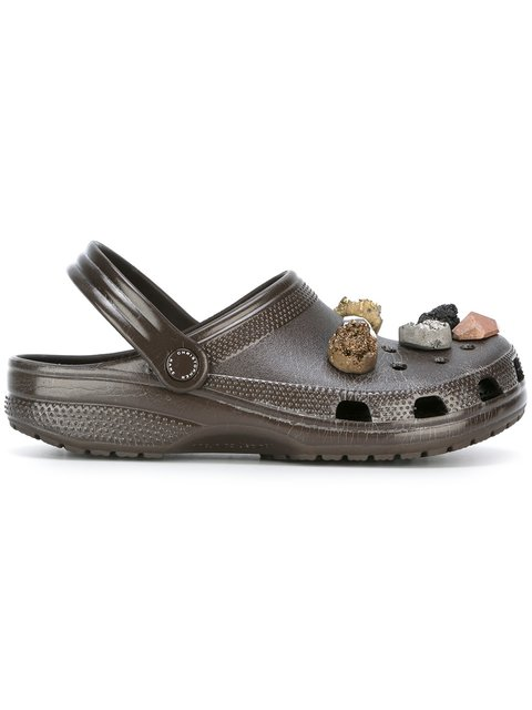 Christopher Kane Stone Embellished Crocs Clogs - Brown