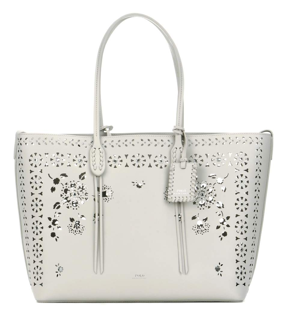 7fdd8fb454 Polo Ralph Lauren Perforated Leather Shopper In Loee