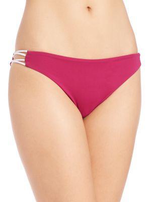 BASTA SURF Zunzal Reversible Swim Bikini Bottom in Hot Pink