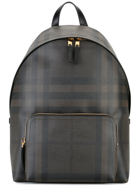 BURBERRY Housecheck Backpack in Black