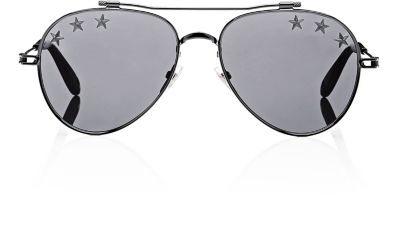 Women'S Embellished Mirrored Brow Bar Aviator Sunglasses, 58Mm in Black