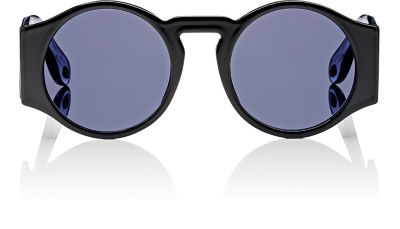 Gv7056 807 Ir Black Round Sunglasses