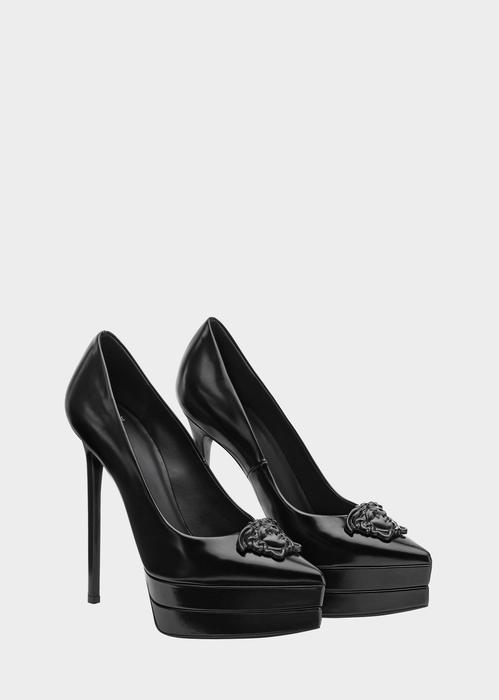 Platform Toe Stilettos, Black
