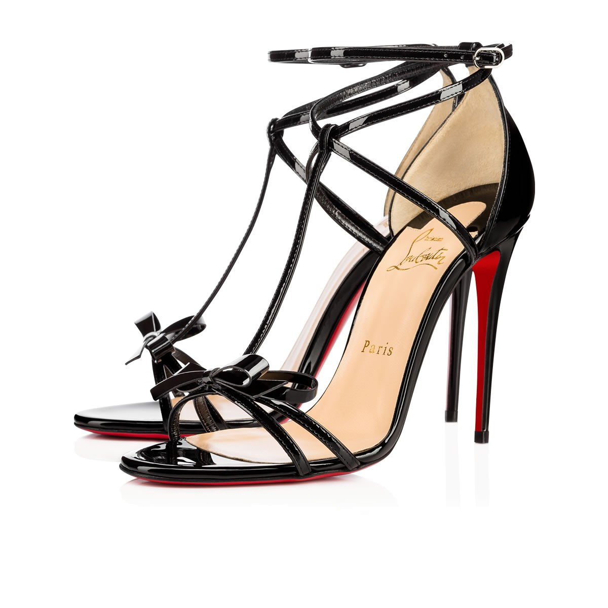 Hot Sale Sale Online Really Christian Louboutin Leather Embellished Sandals Eastbay Cheap Online yGrnEvR