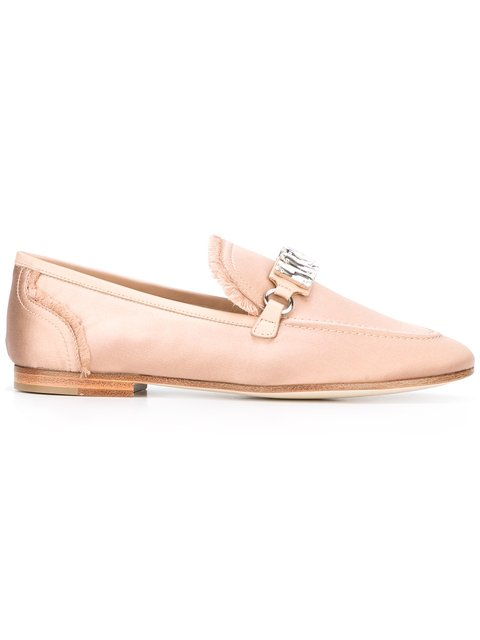 Satin Legacy Loafers in Pink
