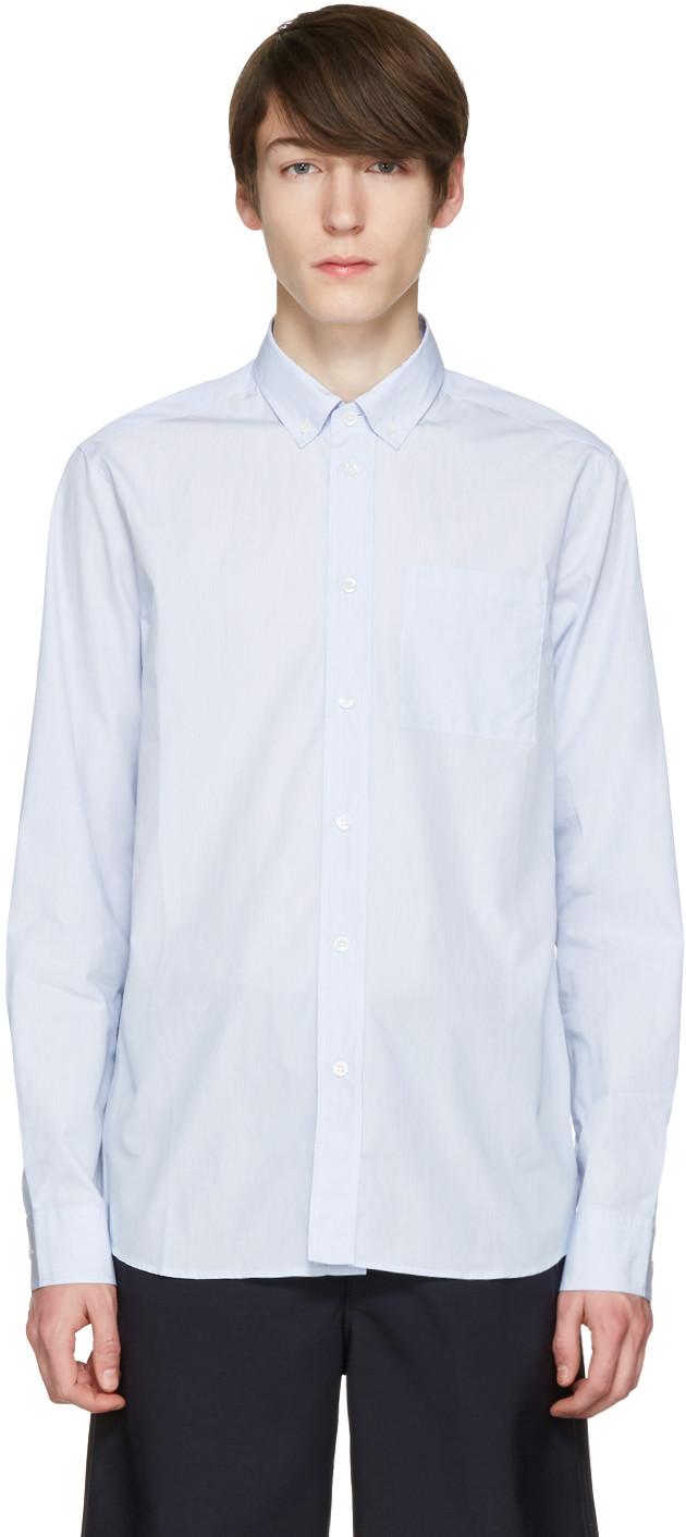 Rear Logo Print Shirt in Blue