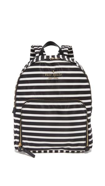 Watson Lane - Small Hartley Nylon Backpack - Black, Black/Clotted Cream
