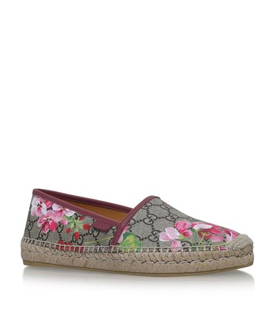 Gg Blooms Supreme Espadrille Flats in Pink