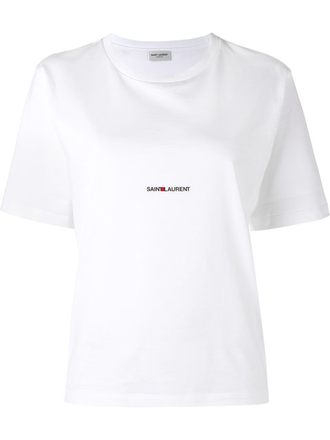 Printed Cotton-Jersey T-Shirt in White
