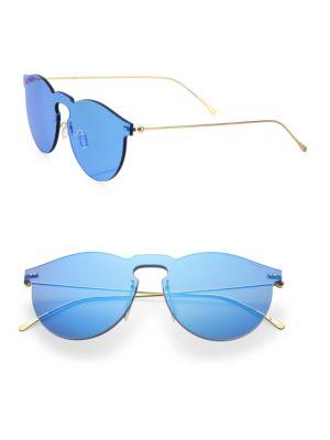 ILLESTEVA Women'S Leonard Ii Mirrored Rimless Round Sunglasses, 60Mm in Metal