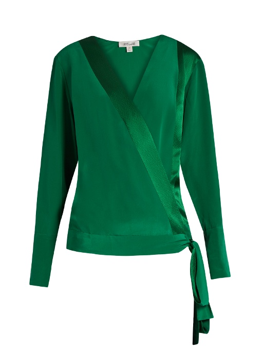 Affordable Cheap Price Diane von Furstenberg Long Sleeve Silk Top Free Shipping Exclusive Cheap Eastbay Cheap Real Finishline 72TLlZQFu
