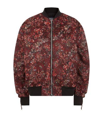 IRO Floral Print Bomber Jacket in Black