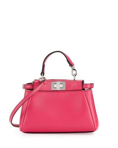 Peekaboo Micro Satchel Bag, Fuchsia in Pink