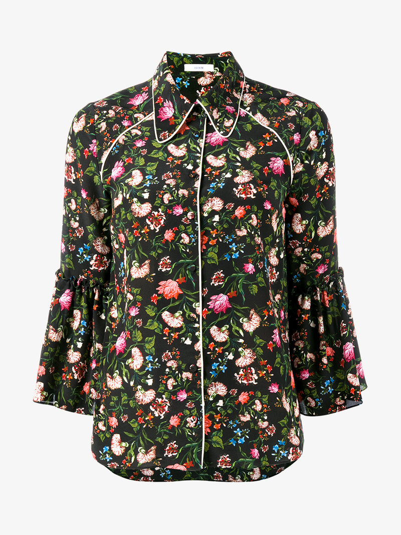 Aran floral-printed silk shirt Erdem Big Discount Cheap Price Cheap View Cheapest Price Online Pictures Online Discount Great Deals 66vmcqj