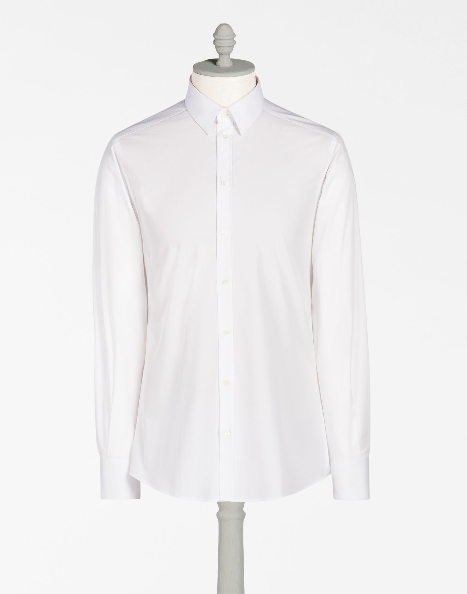 DOLCE & GABBANA Dolce And Gabbana White Stud Collar Shirt