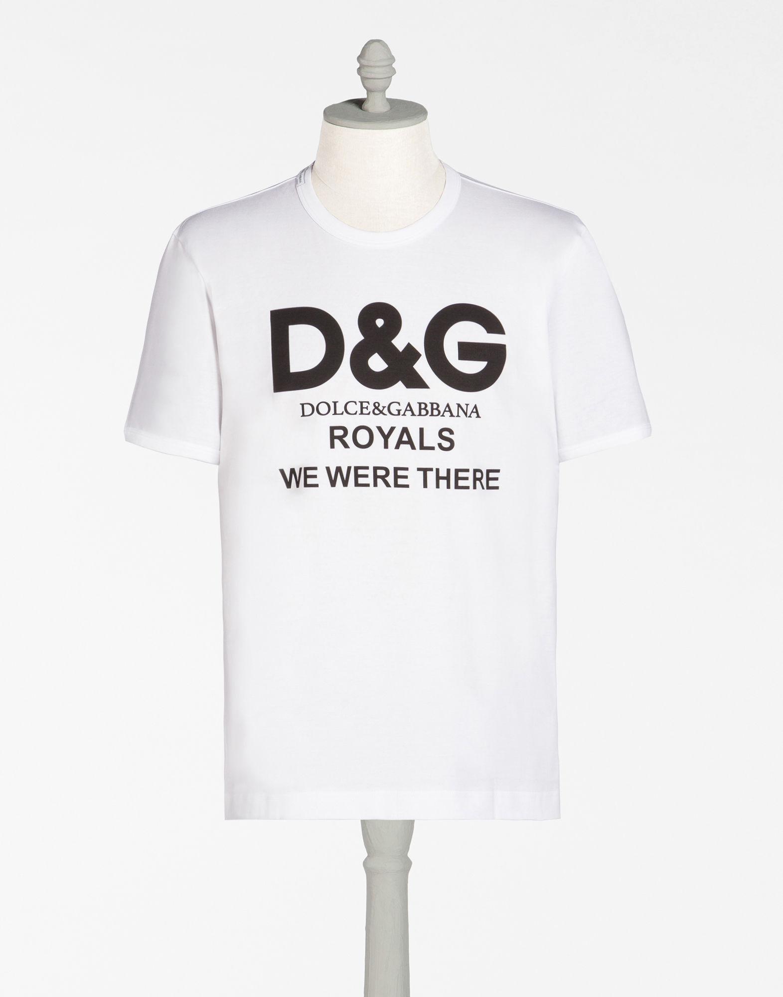 DOLCE & GABBANA Dolce And Gabbana White Millennials Logo T-Shirt