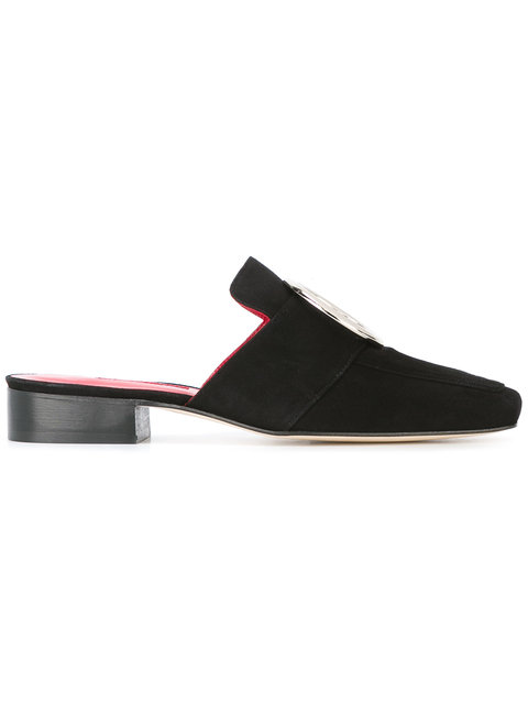 Black Suede Petrol Slip-On Loafers
