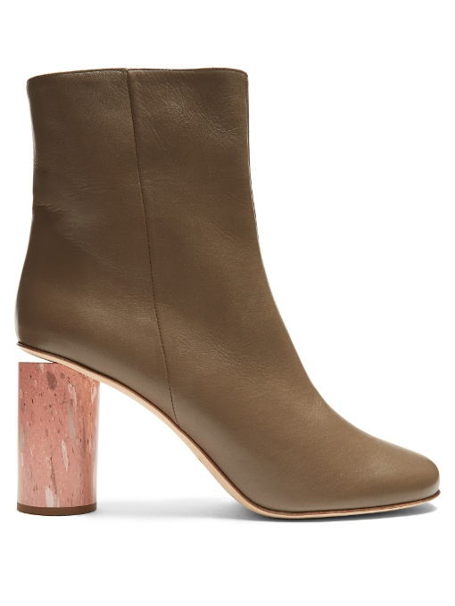 Acne Althea Marble Cylinder Heeled Boots wRXdtBgk