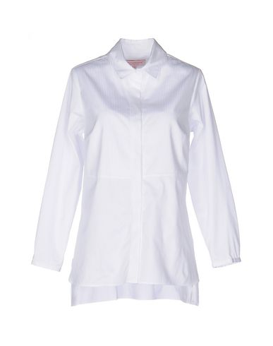 ANNA SAMMARONE Solid Color Shirts & Blouses in White