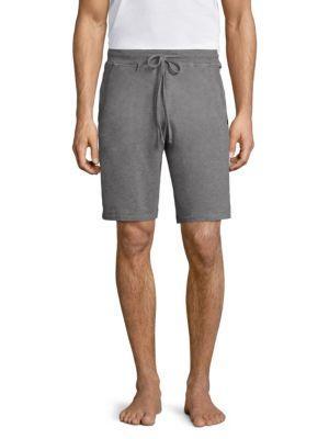 Luis Drawstring Sweat Shorts, Light Gray, Soft Melan