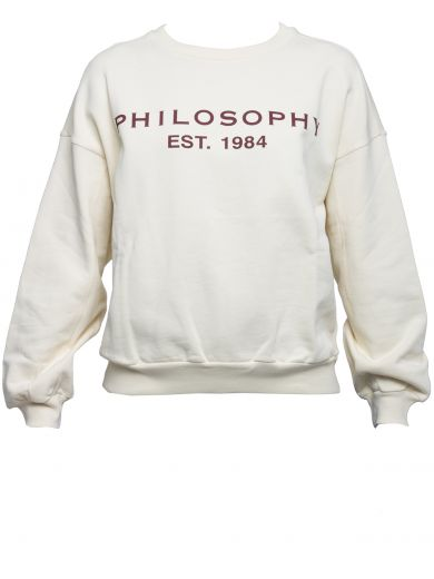 PHILOSOPHY DI LORENZO SERAFINI White Cotton Sweater