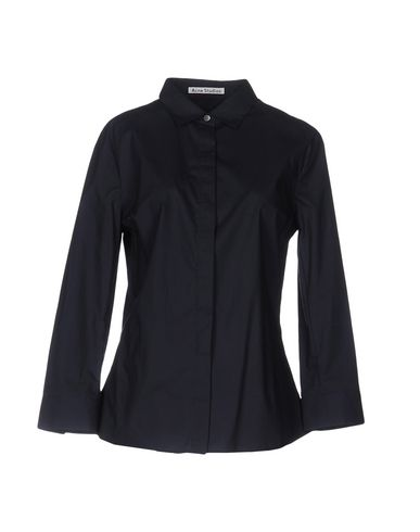 Acne Studios Solid Color Shirts & Blouses, Dark Blue