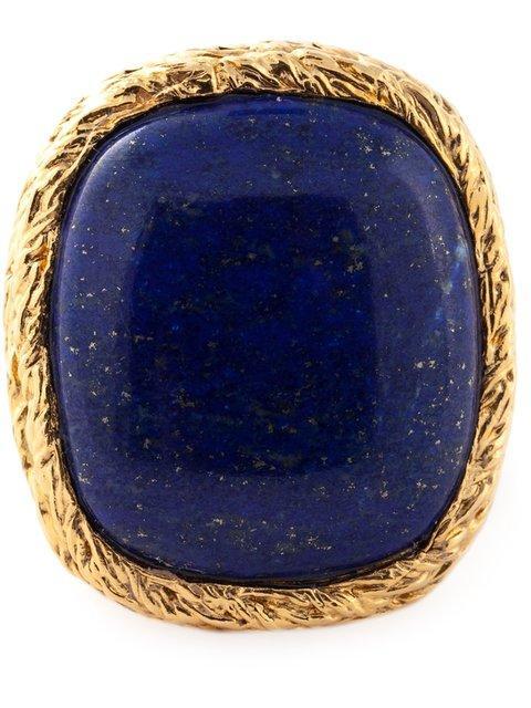 AURELIE BIDERMANN Miki Lapis Lazuli Ring in Blue