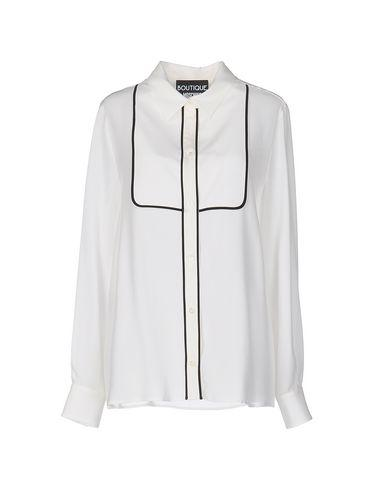 BOUTIQUE MOSCHINO SILK SHIRTS & BLOUSES, IVORY