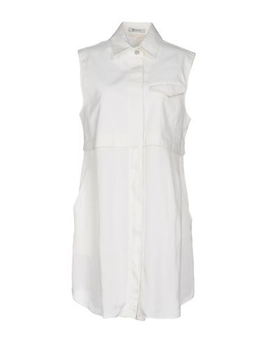 T BY ALEXANDER WANG SHIRT DRESS, WHITE