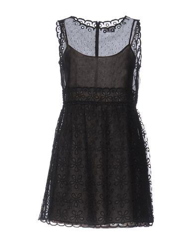 RED VALENTINO SHORT DRESS, BLACK