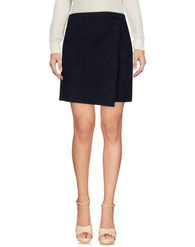 Msgm Knee Length Skirt, Dark Blue