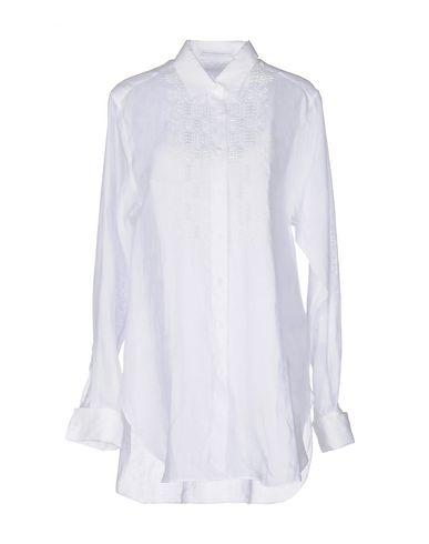ERMANNO SCERVINO SOLID COLOR SHIRTS & BLOUSES, WHITE