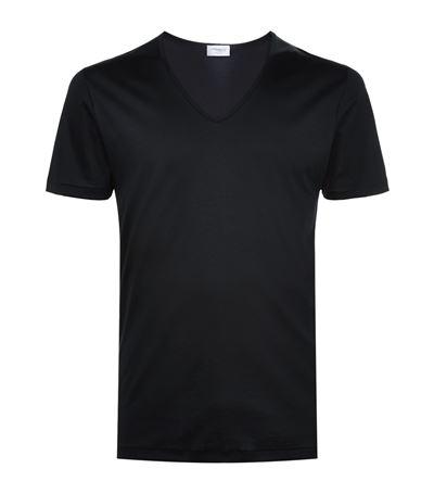 ZIMMERLI Pure Comfort Stretch-Cotton T-Shirt in Black