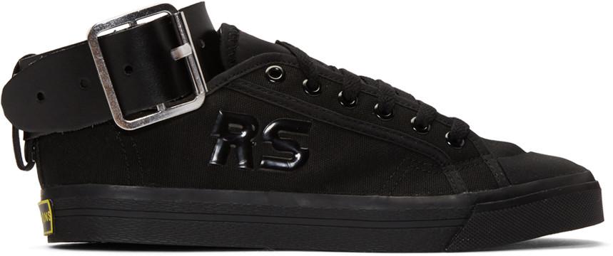 Black adidas Originals Edition Spirit Low Sneakers Raf Simons wgkQlKzF