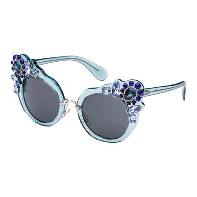 Miu Miu 52Mm Crystal-Embellished Cats'-Eye Sunglasses, Blue