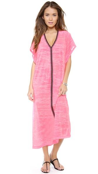 PITUSA Abaya Maxi Dress in Hot Pink