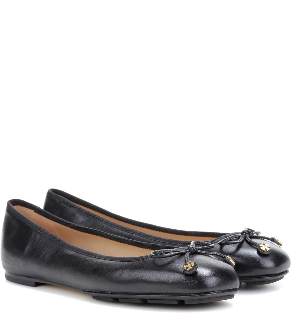 Laila leather ballet flats Tory Burch