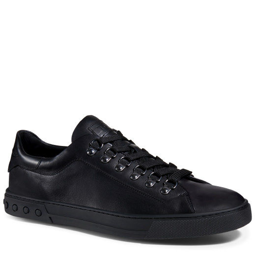 Tod'S Sneakers In Leather, Black